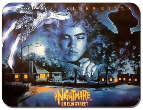A Nightmare on Elm Street Vintage Film Poster Mouse Mat. Horror Movie Mouse Pad
